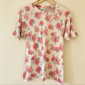 Wildfox Gypsy Roses Floral Vintage Tee Sz XS